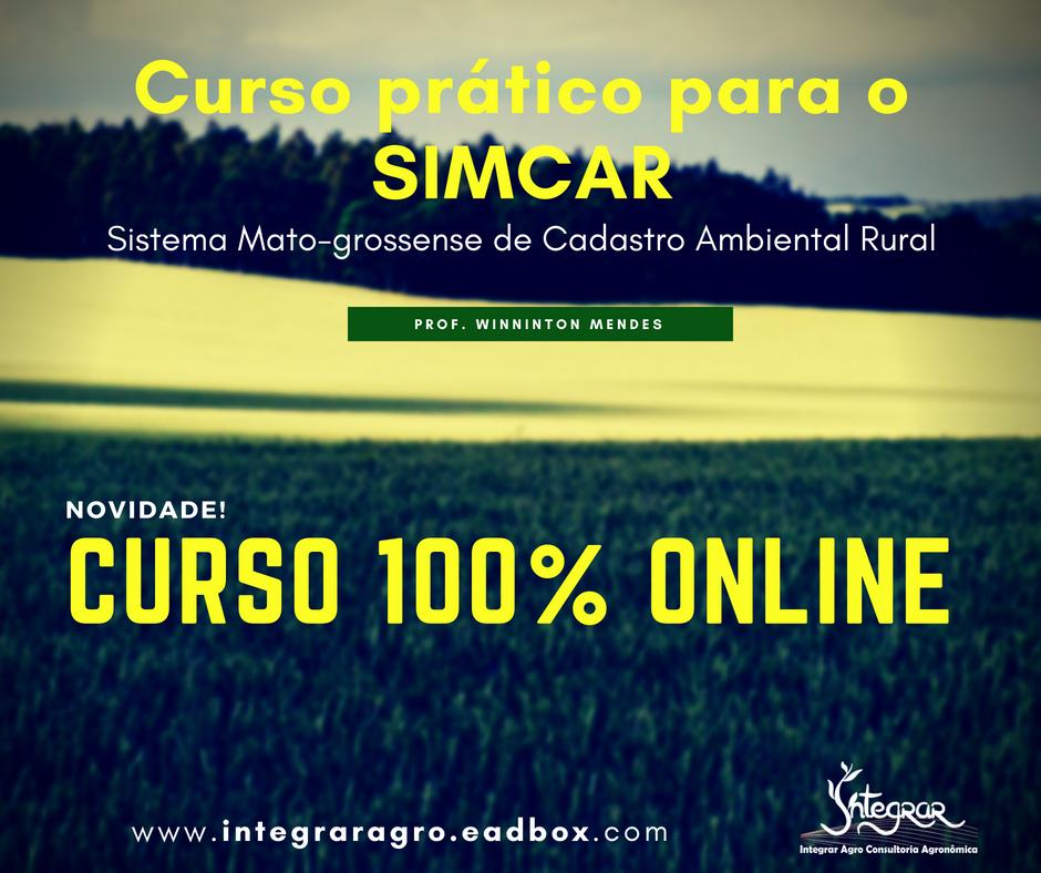 Curso Prático Online: SIMCAR - Sistema de Cadastro Ambiental Rural